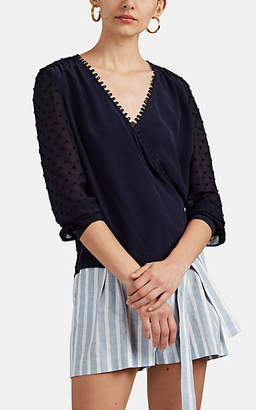 L'Agence Women's Perry Patchwork Blouse - Navy