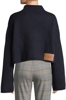 J.W.Anderson Cable-Knit Detail Dropped-Shoulder Wool-Cashmere Sweater