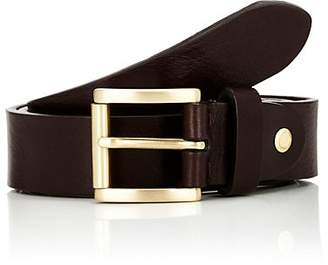 Barneys New York Men's Textured Leather Belt - Brown