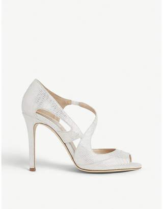 LK Bennett Valentina metallic leather heeled sandals