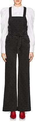 Ulla Johnson Women's Suvi Dot-Embroidered Denim Overalls