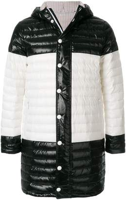 Thom Browne Quilted Down-Filled Satin Coat