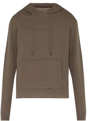 Bottega Veneta Intrecciato Stitched Hooded Cotton Sweatshirt - Mens - Grey