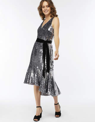 Monsoon Aubrey Sequin Midi Dress