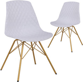 Equipment Executive Set of 2 Novalie Moulded Dining Chairs