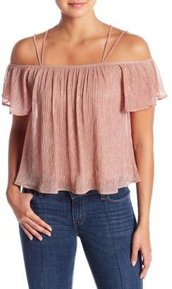 Lush Off-the-Shoulder Pleated Blouse