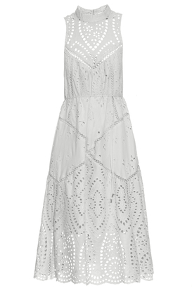 ZIMMERMANN Epoque broderie-anglaise high-neck dress