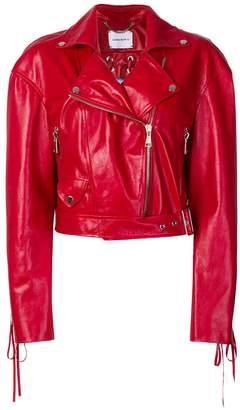 Magda Butrym cropped moto jacket