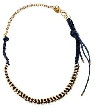 Giles & Brother Braided Tiny Gold Hex Necklace