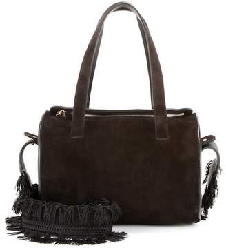The Row Drum 10 suede shoulder bag