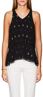 A.L.C. Women's Duran Silk Sleeveless Top