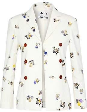 Acne Studios Floral-Print Cotton-Corduroy Blazer