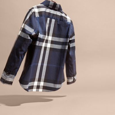 Burberry Check Cotton Button-down Shirt 14