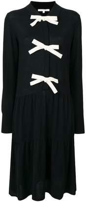 Parker Chinti & midi bow detailed dress