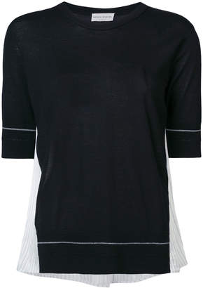 Sonia Rykiel contrast panel knit top