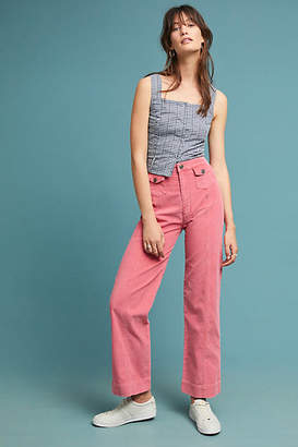MiH Jeans Paradise Cropped Wide-Leg Pants