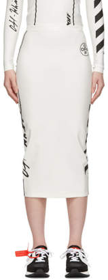 Off-White White Diag Pencil Skirt