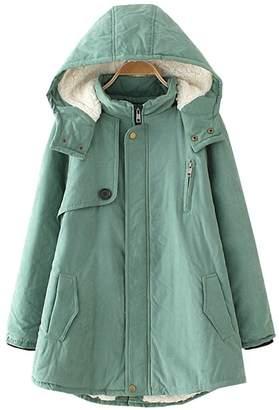 Wicky LS Women's Warm Autumn Winter Hoody Thick Outwear Coat Coat 2XL