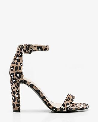 Le Château Leopard Print Ankle Strap Sandal