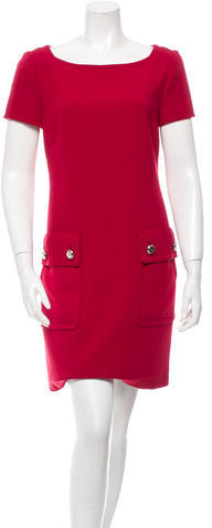 prada Prada Short Sleeve Mini Dress