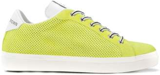 Leather Crown perforated sneakers