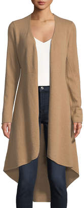 Neiman Marcus Cashmere Flared Duster Cardigan, Camel