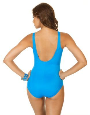 Miraclesuit One-Piece V-Neck Bathing Suit