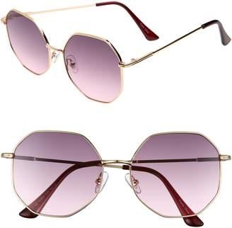 BP 56mm Gradient Geometric Sunglasses