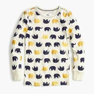 J.Crew Girls' pajama set in elephants