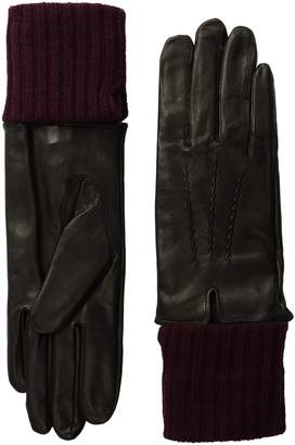 Soia & Kyo SoiaKyo Women's Carmel-F6 Leather Glove with Fold-Over Rib Knit Sleeve