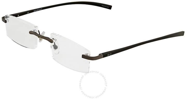 B+D Al Reader Matt Gun / Black Eyeglasses