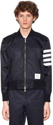 Cotton Bomber Jacket W/ Stripes $860 thestylecure.com