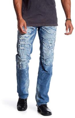 Affliction Blake Fleur Chicago Straight Leg Jean $165 thestylecure.com