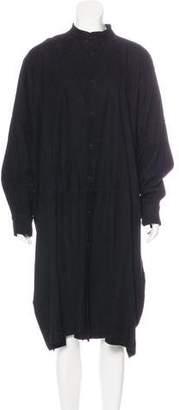 eskandar Suede Midi Dress