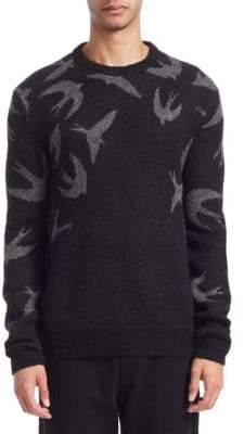 McQ Swallow Swarm Crewneck Sweater