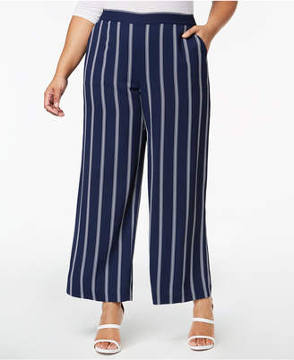 Charter Club Plus Size Striped Cropped Pants