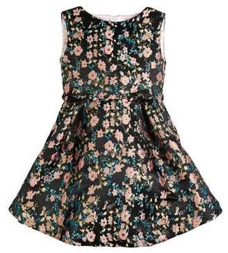 Helena Floral Jacquard Sleeveless Dress, Size 7-14