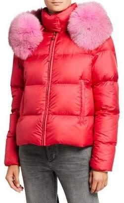 Mr & Mrs Italy Mr&Mrs Italy Airborne Fur-Hood Puffer Coat