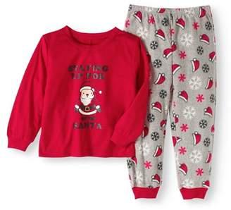 Holiday Family Pajamas Baby Toddlers' Unisex Santa 2-Piece Pajama Set