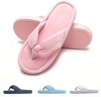 Fly London HAWK Women Spa Thong Flip Flops Velvet Memory Foam Indoor House Slippers