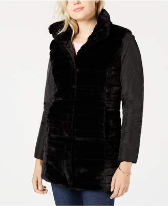 Maison Jules Reversible Faux-Fur Jacket
