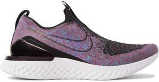 Nike Running - Epic Phantom React Flyknit Slip-On Running Sneakers - Men - Purple