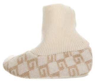 Gucci Toddlers' Cashmere Intarsia Booties beige Toddlers' Cashmere Intarsia Booties