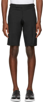 Thom Browne Black Low-Rise Skinny Shorts