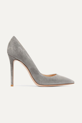 Gianvito Rossi 105 Suede Pumps - Light gray