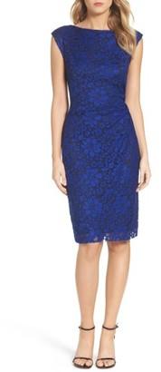 Women's Betsey Johnson Lace Sheath Dress $138 thestylecure.com