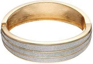 JLO by Jennifer Lopez Glittery Hinged Bangle Bracelet
