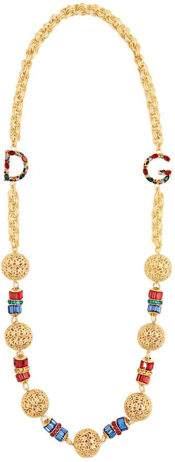 DOLCE & GABBANA Charm-embellished chain necklace