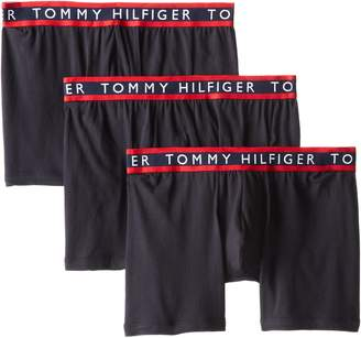 Tommy Hilfiger Men's 3-Pack Cotton Stretch Boxer Brief, Black/Navy/Red