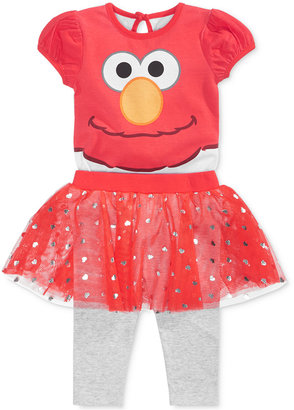 Nannette 2-Pc. Elmo Bodysuit & Skirted Leggings Set, Baby Girls (0-24 months) $36 thestylecure.com